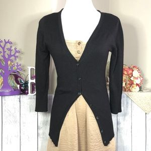 Maurices sz XS Black Button Front Cardigan *71S*